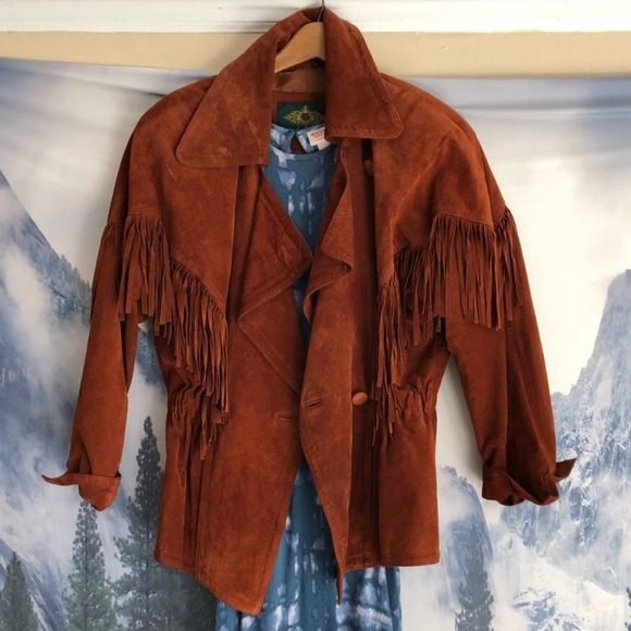 Vintage Jackets & Blazers - More photos suede leather fringe vintage jacket